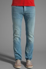 Woven Colored Jean in Dusty Blue