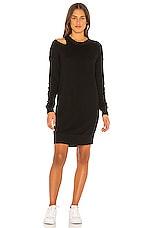n:philanthropy Mia Sweatshirt Dress in Black Cat