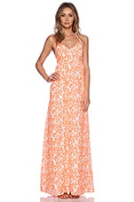 Ladies Halter Dress in Orange Flower