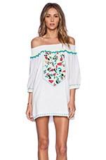 Pia Pauro Embroidered Tunic Dress in White