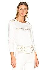 Sweatshirt in Off White
