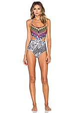 PILYQ Embroidered Phoenix One Piece Swimsuit in African Rays