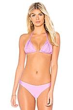 PILYQ Isla Bikini Top in Lilac
