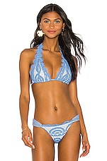PILYQ Lace Halter in Sky Blue