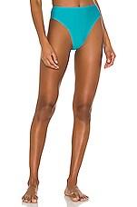 PILYQ Hillary High Waist Bikini Bottom in Blue