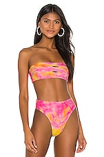PILYQ Color Block Bandeau in Tie Dye