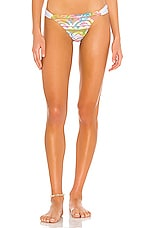 PILYQ Lace Fanned Teeny Bikini Bottom in Cali Tie Dye