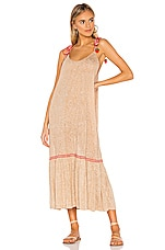 Pitusa Tie Up Dress in Nude