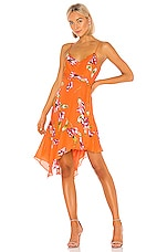 Parker Monroe Dress in Orange Magnolia