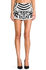 Veda Beaded Shorts in Black/White