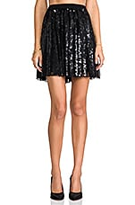 Sequin Delphine Skirt in Black