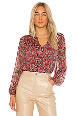 Parker Dauphine Blouse in Bali Floral