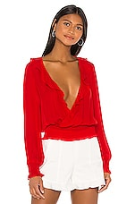 Parker Quincy Blouse in Monaco Red