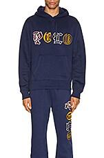 Polo Ralph Lauren Vintage Fleece Knit Hoodie in Cruise Navy