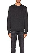 Polo Ralph Lauren Merino Wool Long Sleeve Sweater in Dark Granite Heather