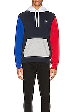 Polo Ralph Lauren Double Knit Tech Hoodie in Aviator Navy Multi