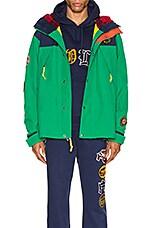 Polo Ralph Lauren Cotton Nylon Blend Anorak in Cruise Navy & Kayak Green