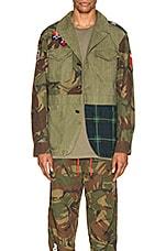 Polo Ralph Lauren Hybrid Jacket in British Elmwood & Camo & Plaid
