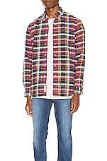 Polo Ralph Lauren Long Sleeve Oxford Shirt in Garnet & Aqua