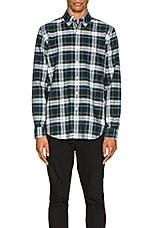 Polo Ralph Lauren Long Sleeve Oxford Shirt in Evergreen & Zest