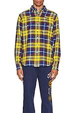 Polo Ralph Lauren Brushed Cotton Long Sleeve Shirt in Yellow
