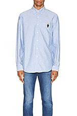 Polo Ralph Lauren Long Sleeve Oxford Shirt in Blue Bear