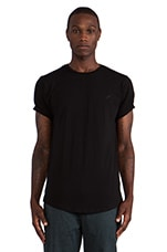 Burne S/S Tee in Black