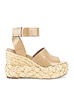 Paloma Barcelo Paule Lory Wedge in Taupe