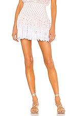 Place Nationale La Libere Mini Skirt in Coral Blossom Print