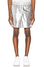Pleasures Liquid Metallic Shorts in Silver