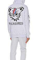 Pleasures Dead Inside Zip Hoodie in Heather Grey