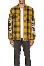 Pleasures Vernon Zip Jacket in Yellow