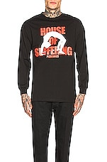 Pleasures House Of Suffering Long Sleeve Tee in Black