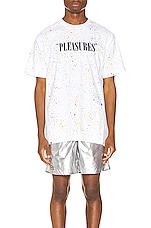 Pleasures Balance Tye Dye Tee in Speckle White