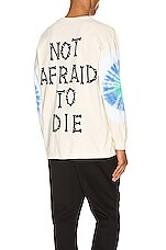 Pleasures Not Afraid Tye Dye L/S Tee in Creme