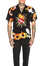 Pleasures Gangster Short Sleeve Button Up in Black