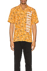 Pleasures Andy Rayon Button Down in Yellow