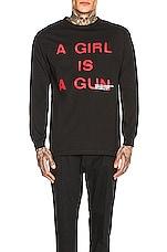 Pleasures Girl Is A Gun Long Sleeve Tee in Black