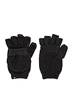 Plush Fleece Lined Texting Mittens in Black