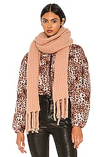 Plush Oversized Ribbed Scarf in Pink