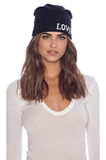 Love/Hate Beanie in Black/White