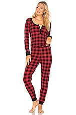 Plush Thermal PJ Set in Red & Black Buffalo Plaid