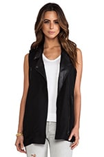 Moto Vest in Black