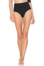 POEMA Swim Mykonos Bikini Bottom in Textured Ebony