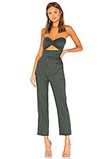 Privacy Please Lauren Jumpsuit in Forest Green