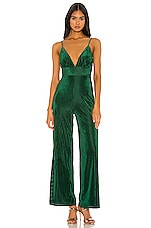 Privacy Please Freya Jumpsuit in Emerald Green