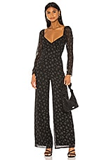 Privacy Please Everleigh Jumpsuit in Black Amelia Floral