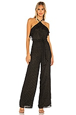 Privacy Please Kyra Jumpsuit in Black & Gold
