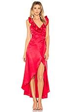 Privacy Please Fillmore Dress in Scarlet