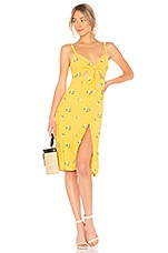 Privacy Please Nora Embroidered Midi Dress in Sunny Yellow